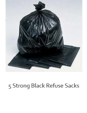 Black bin bags