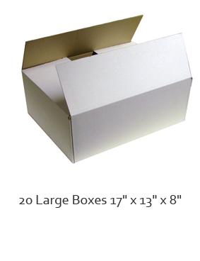20 x Large single walled cardboard box