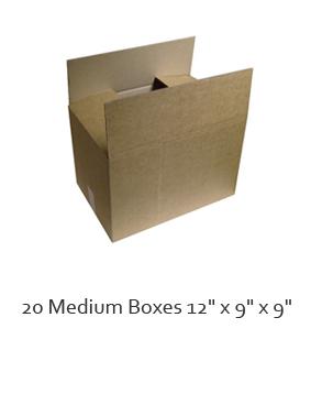 20 x medium single walled cardboard boxes