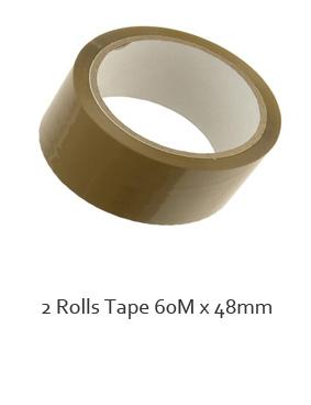 2 x Buff packaging tape